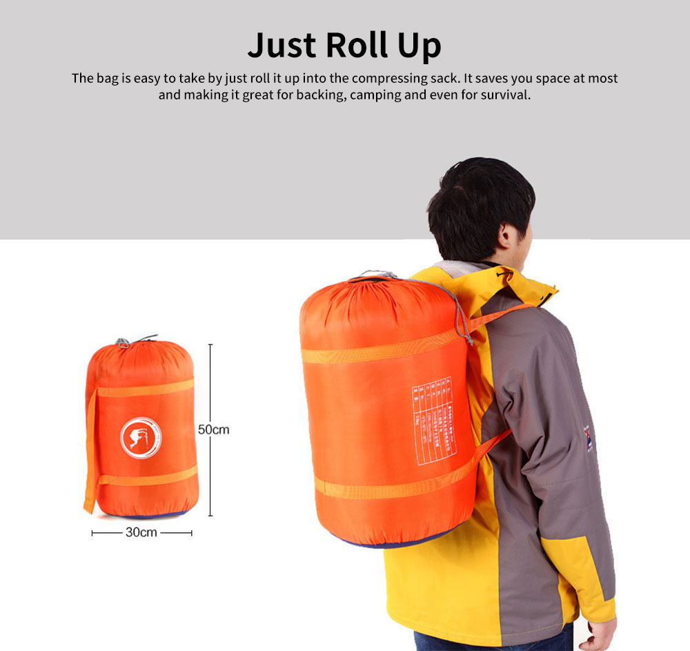 Hollow Cotton Adult Sleeping Bag for Camping Hiking 2 in 1 Single/Double Warm Sleeping Bag 4