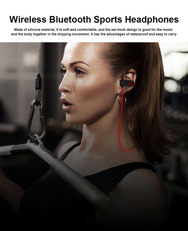 New U8 Wireless Bluetooth Headset, Hanging Ear Running Universal Headphone, Waterproof Earphone 0