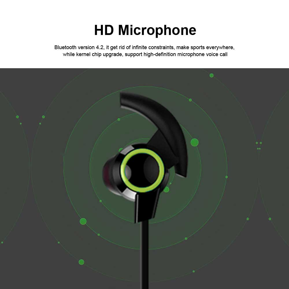 In-ear Wireless Headphone, Hanging neck earphone, Small Horn Bluetooth Headset For Running 2