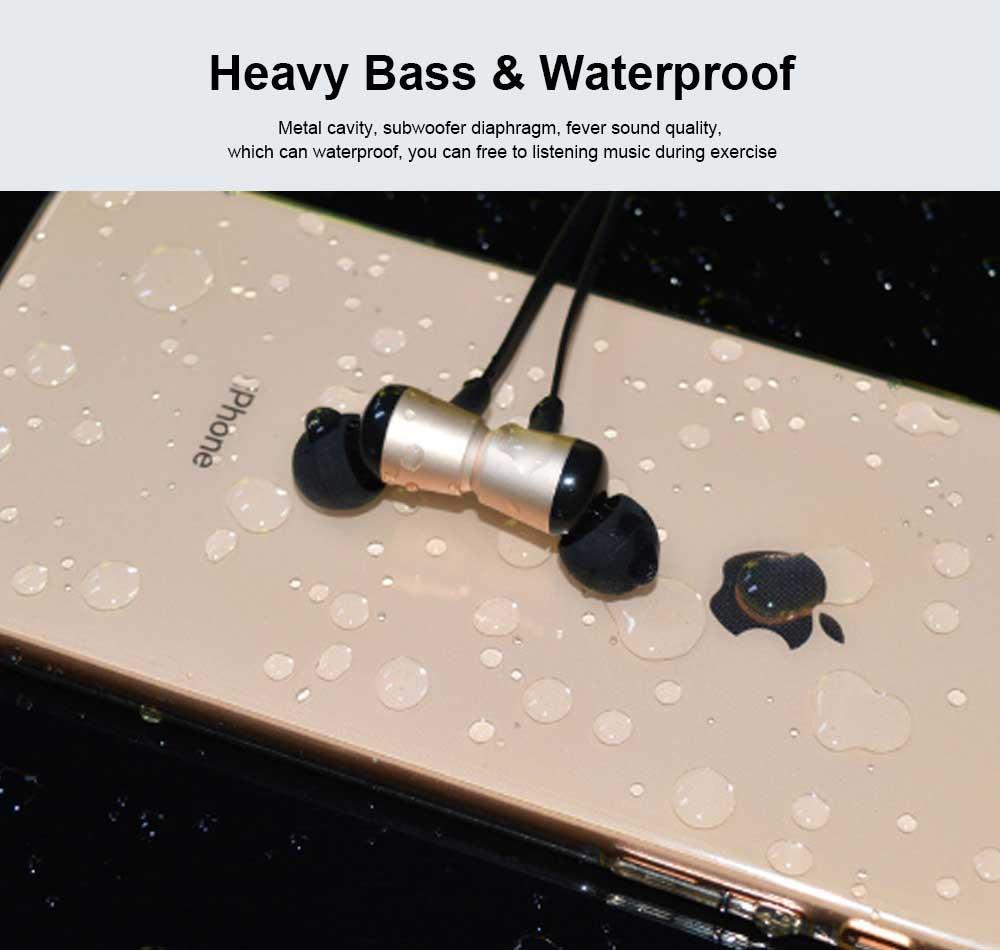 Bluetooth Sports Headphones Wireless Subwoofer Earphone Hanging Ear Headset 5