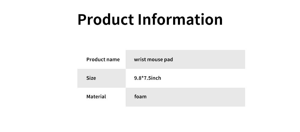 Selected Memory Cotton Wrist Mouse Pad, Raising Wrist Mouse Pad for Game Computer Office Home 6