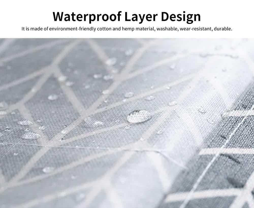 Cotton Linen Paper Towel Box, Garden Wind Multifunctional Paper Towel Storage Container, with Waterproof Layer Design 2