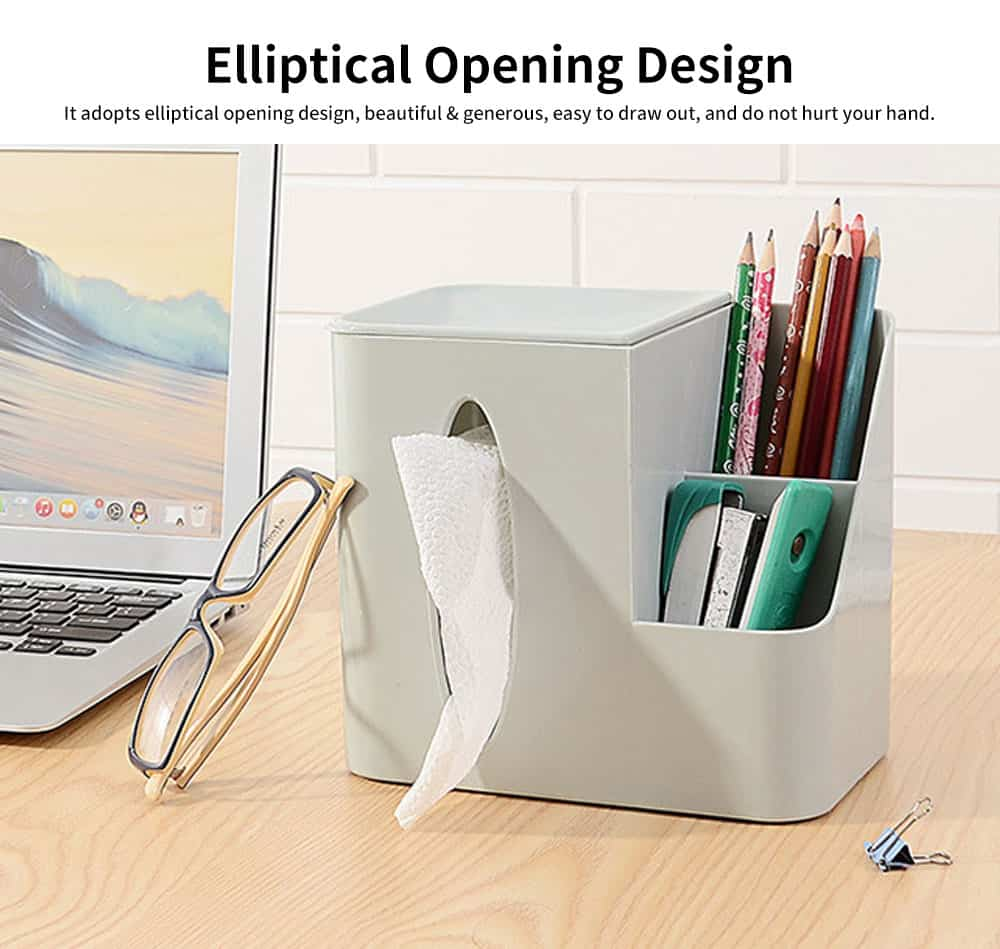 Environmental Protection Storage Tissue Box, Creative Literary Tissue Box, with Elliptical Opening Design 5