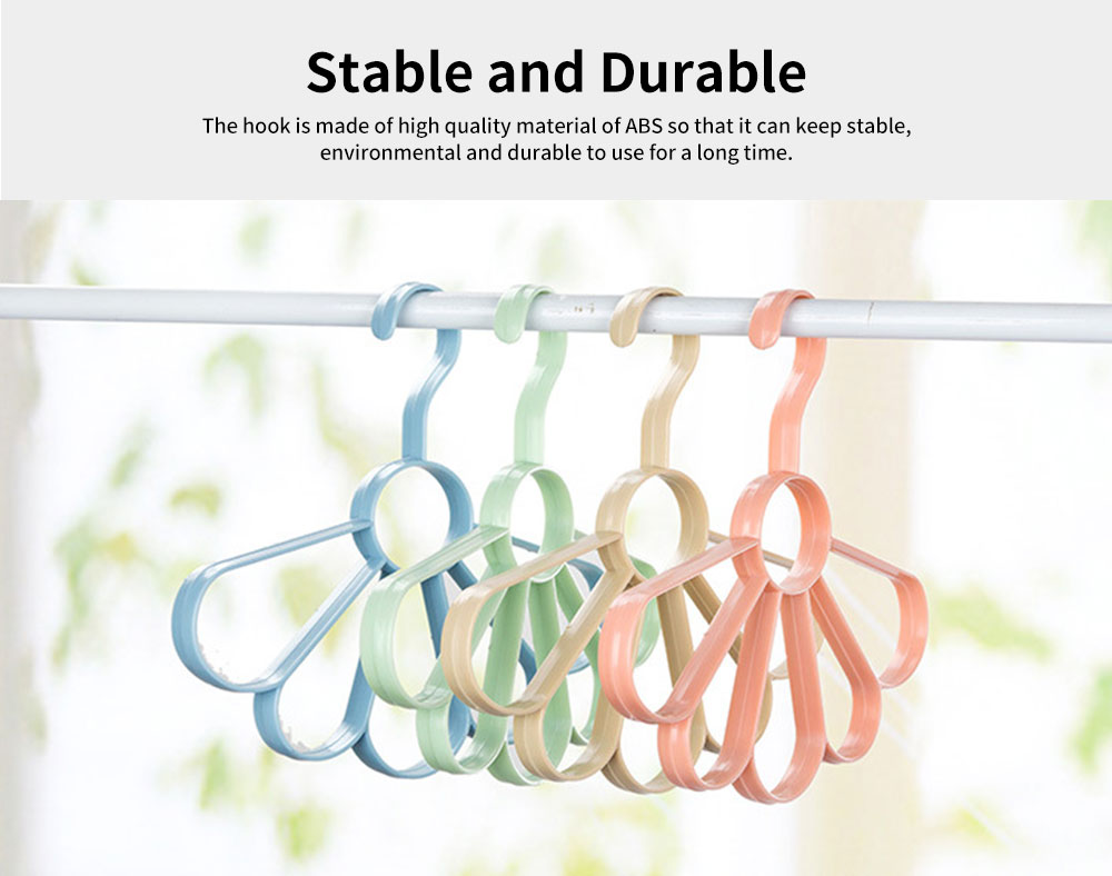 Multifunctional Tie and Scarf Hanger Plastic Fan-shaped for Wardrobe, Home Dormitory Essential Clothes Hanger 2