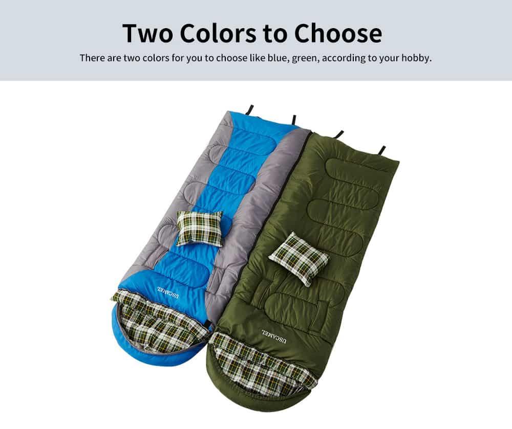 Outdoor Waterproof Sleeping Bag, Lightweight Flannel Warm Sleeping Bag for Travel 4 Seasons 1