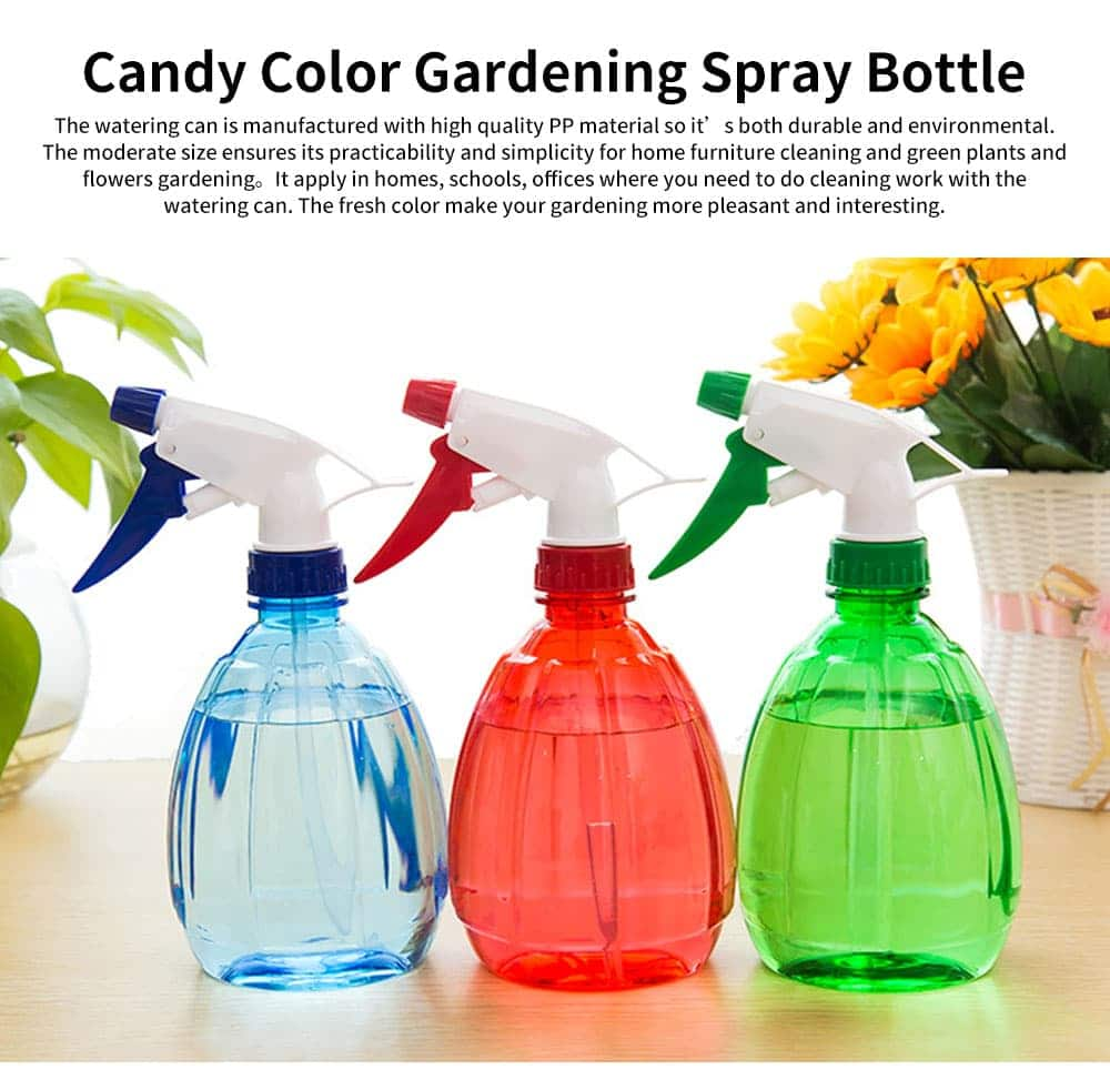 Hand Press Small Plastic Spray Bottle for Home, School, Office Candy Color Gardening Tool Watering Can 0