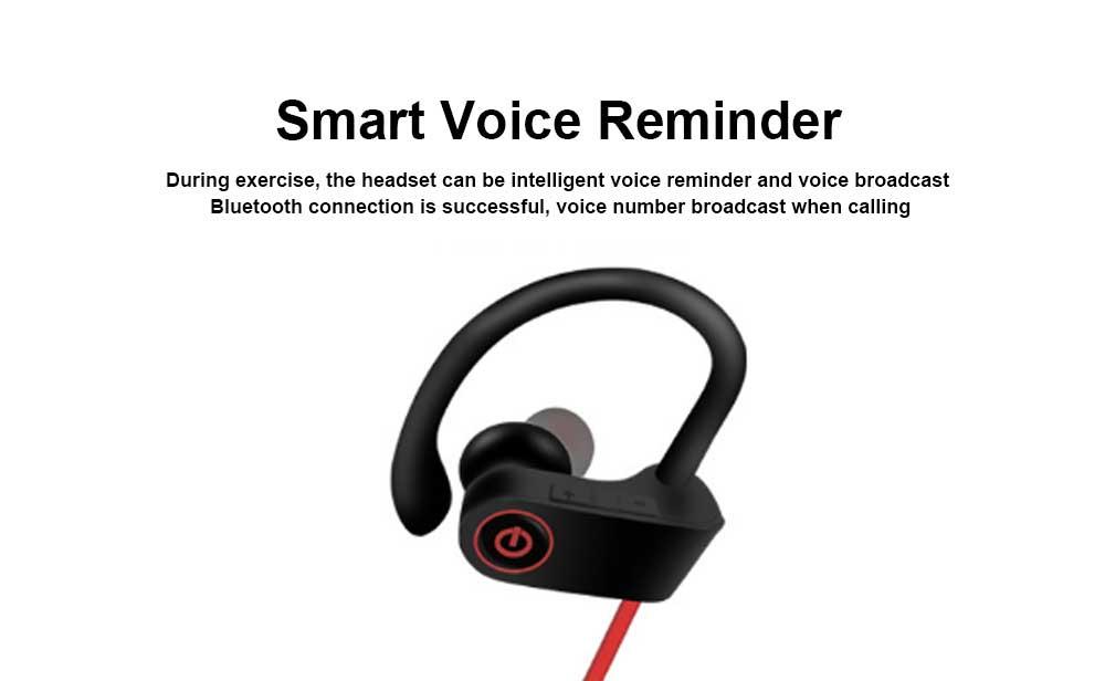 New U8 Wireless Bluetooth Headset, Hanging Ear Running Universal Headphone, Waterproof Earphone 4