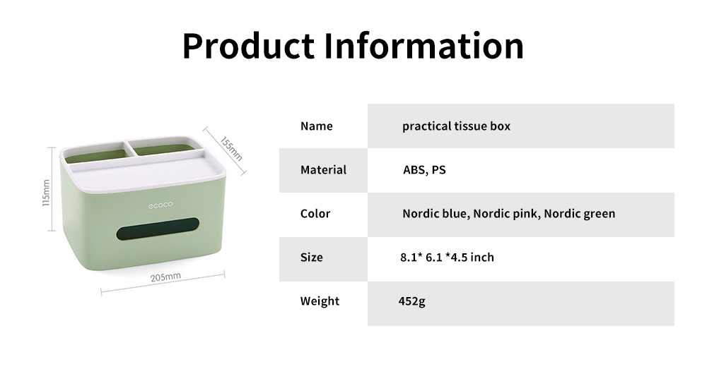 Creative Desktop Storage Tissue Box, Multifunctional Practical Simple Container, with Double Layer Storage Design 6