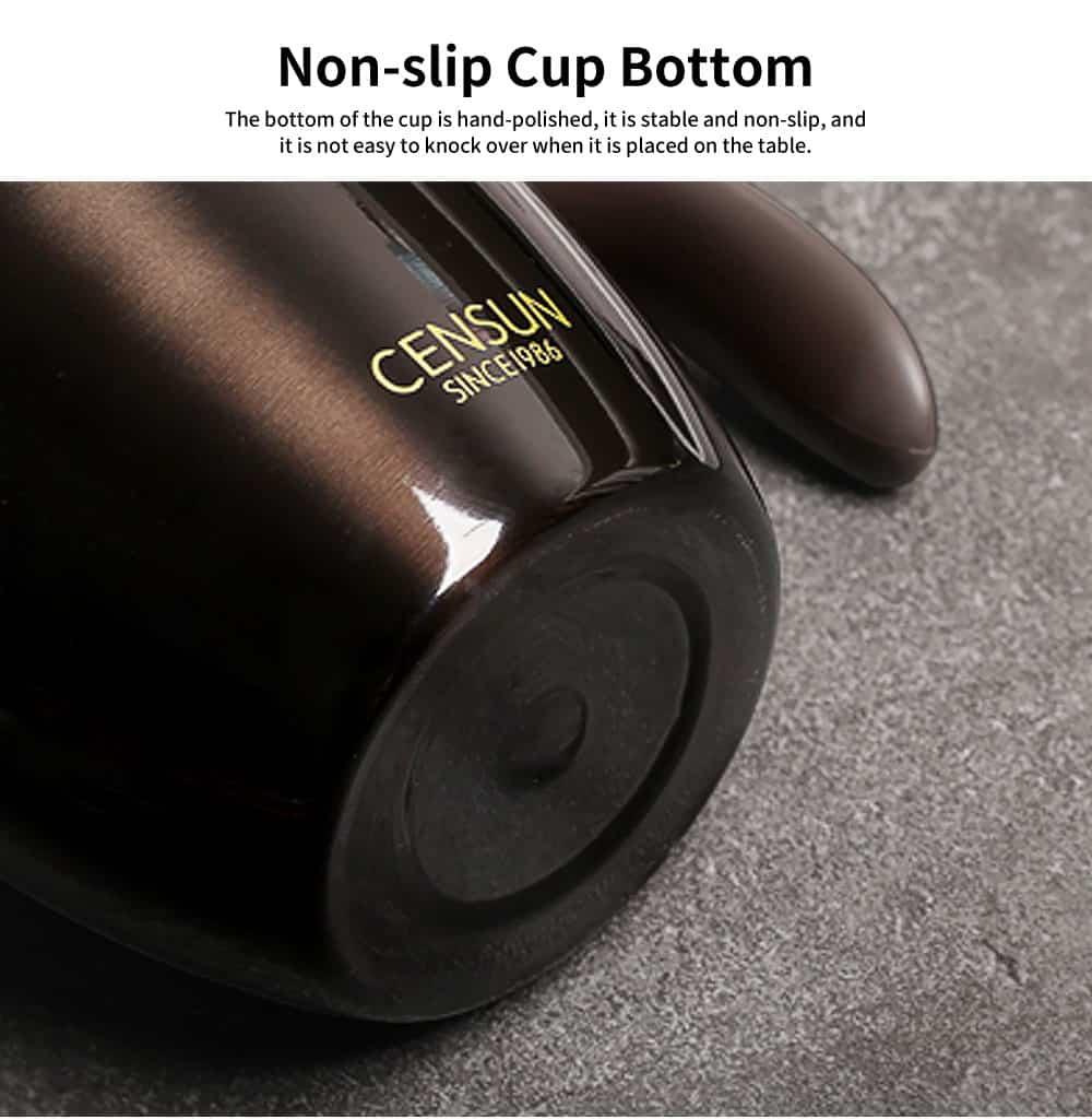 Continental Breakfast Coffee Mug, Simple Mug, Insulated Mug with Covered Spoon 4