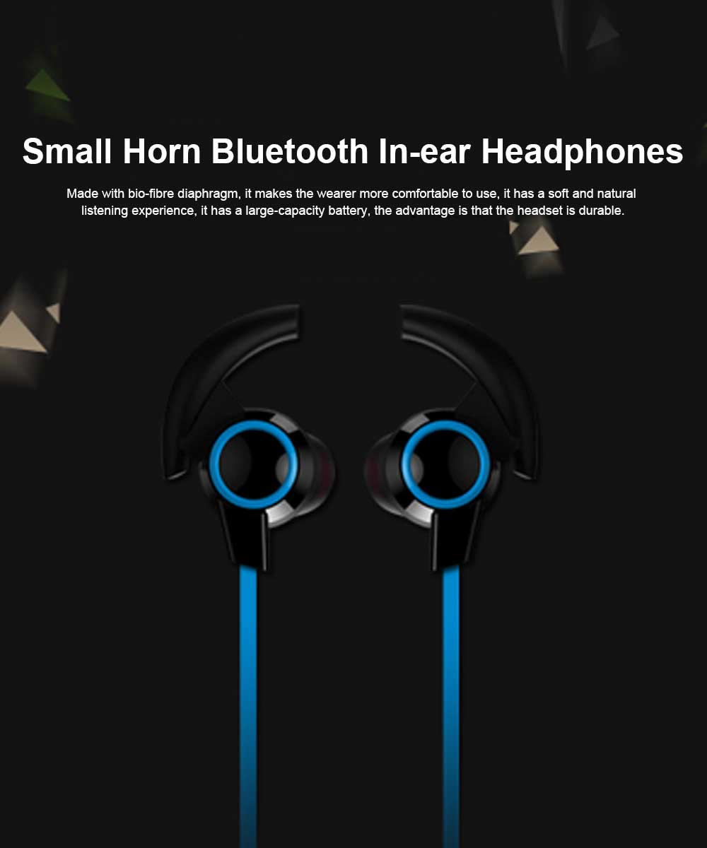 In-ear Wireless Headphone, Hanging neck earphone, Small Horn Bluetooth Headset For Running 0