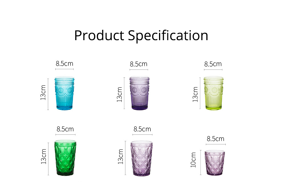 Retro Relief Water Glass Creative Sunflower for Drink Lead-free Juice glass Red Wine Cup 10