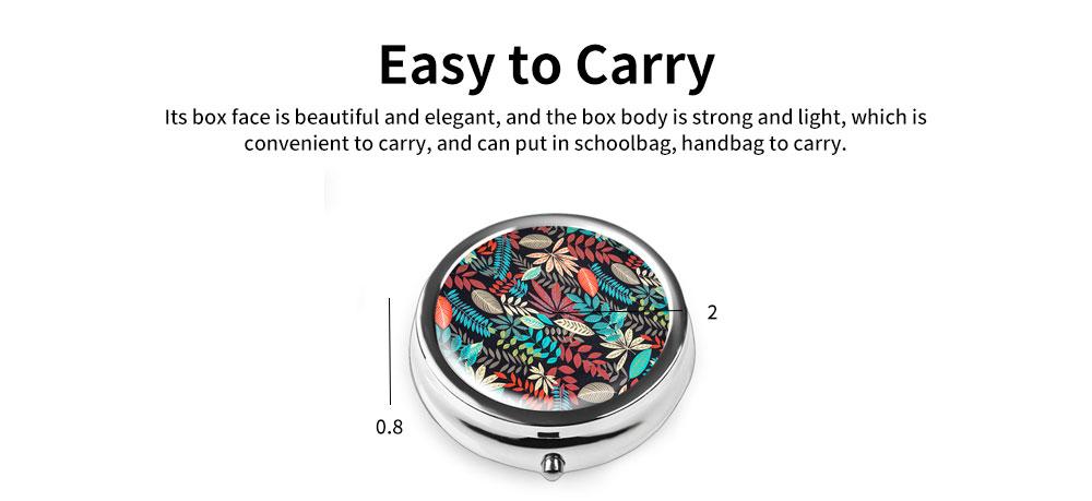 Portable Mini Portable Pill Box, Colorful Unique Pattern Storage Case for Health Care Product 4