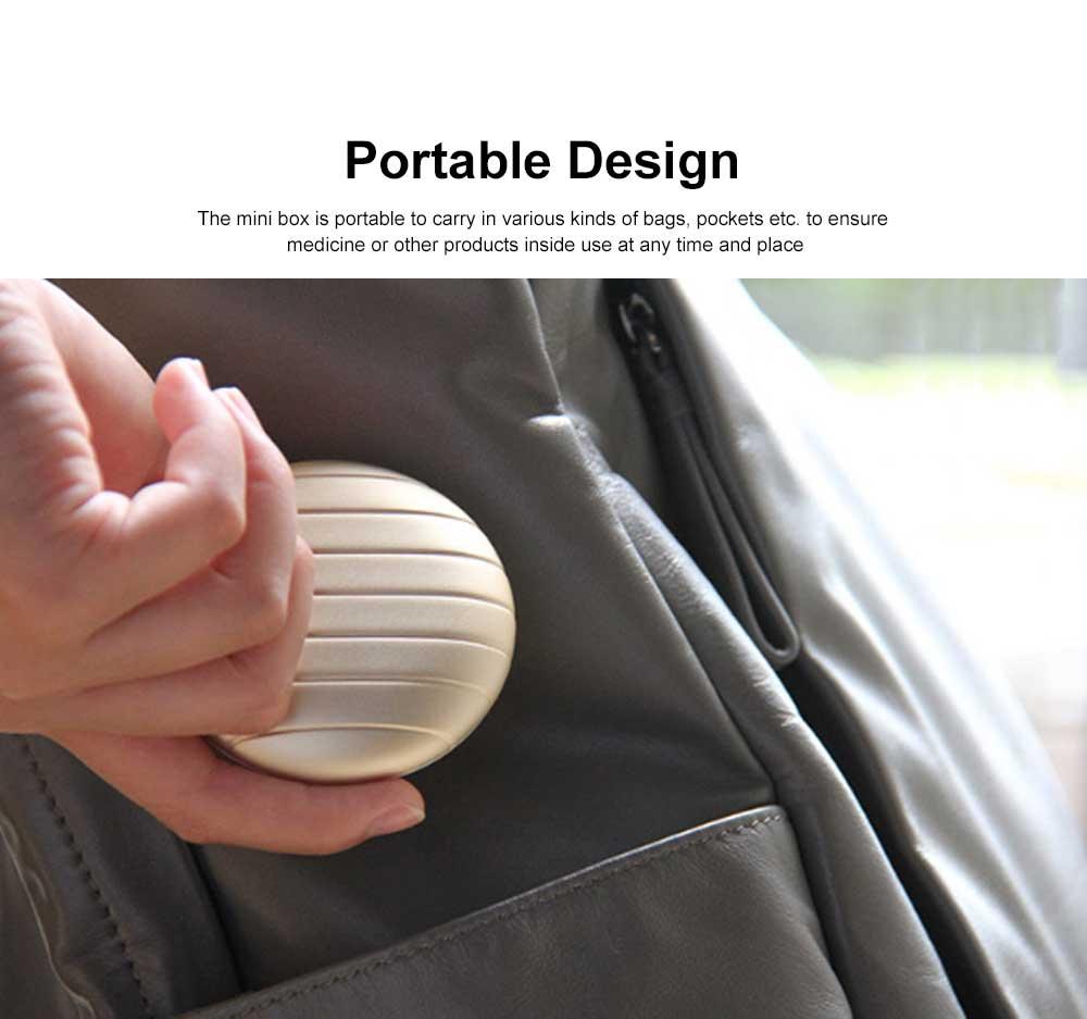 Portable Mini Medicine Box for Medicines or Pills Storage Stylish Small Size Storage Case Creative Storage Box 3
