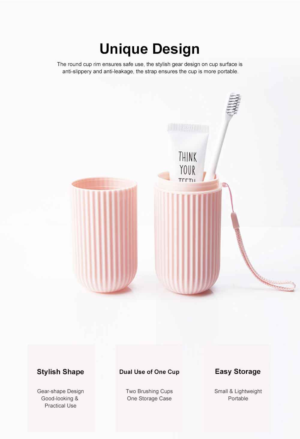 Portable Toothbrush Box Set Made from Wheat Straw for Travel Purpose Resining Cups Teeth Brush Mug Set Couple Cups Simple Style Teeth Tools Storage Box 5