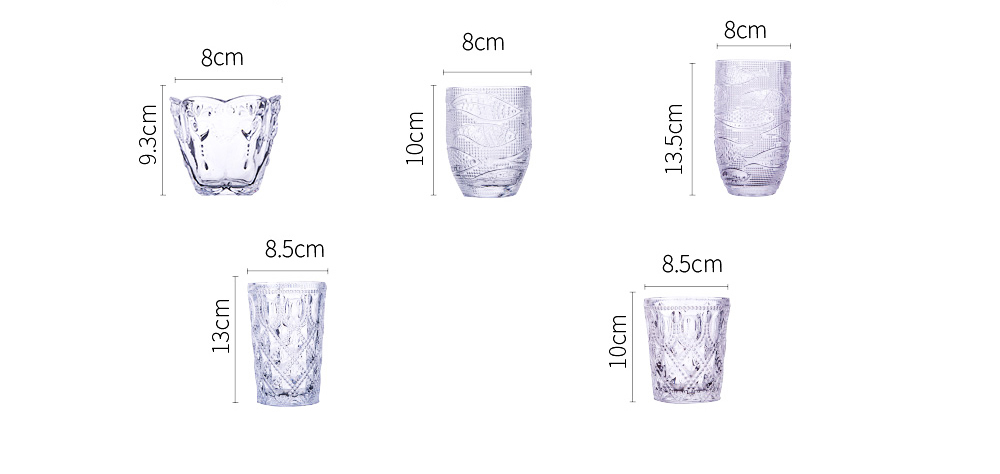 Retro Relief Water Glass Creative Sunflower for Drink Lead-free Juice glass Red Wine Cup 11