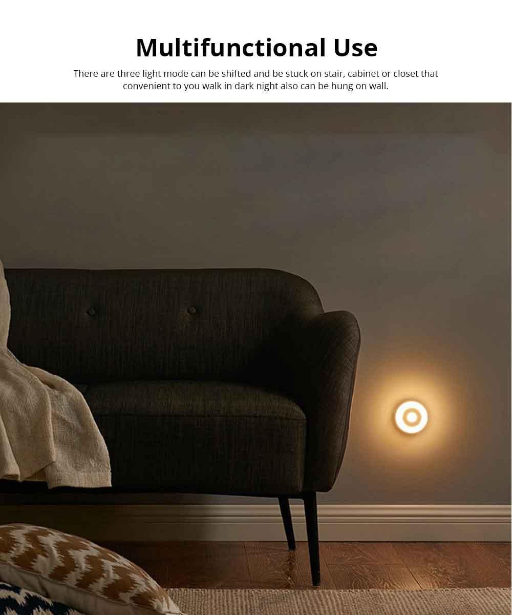 Battery-Powered LED Motion Sensor Night Light Human Induction Touch Sensor LED Cabinet Lights, Magnet Stick-on Closet Light 3
