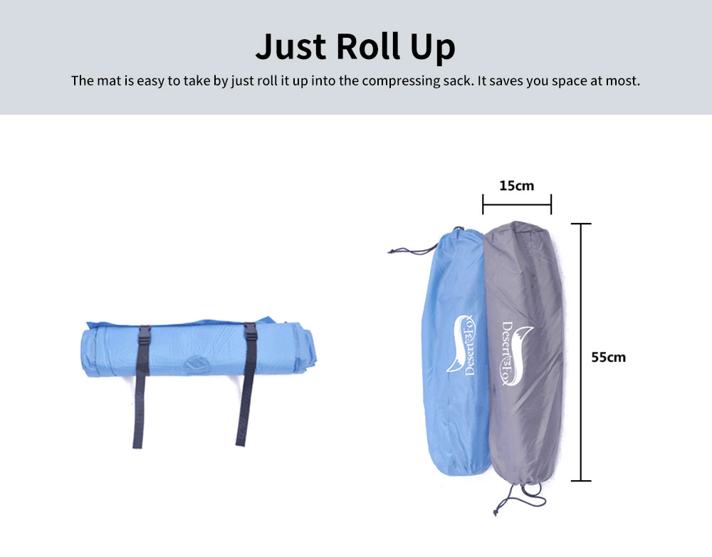 Automatic Inflatable Sleeping Bag with Pillows, Picnic Camping Essential Sleeping Bed 5