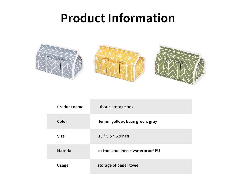 Cotton Linen Paper Towel Box, Garden Wind Multifunctional Paper Towel Storage Container, with Waterproof Layer Design 6