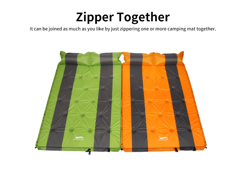 Double Automatic Inflatable Picnic Sleeping Mat with Pillows, Water Resistant & Cold Protection Sleeping Cushion 6