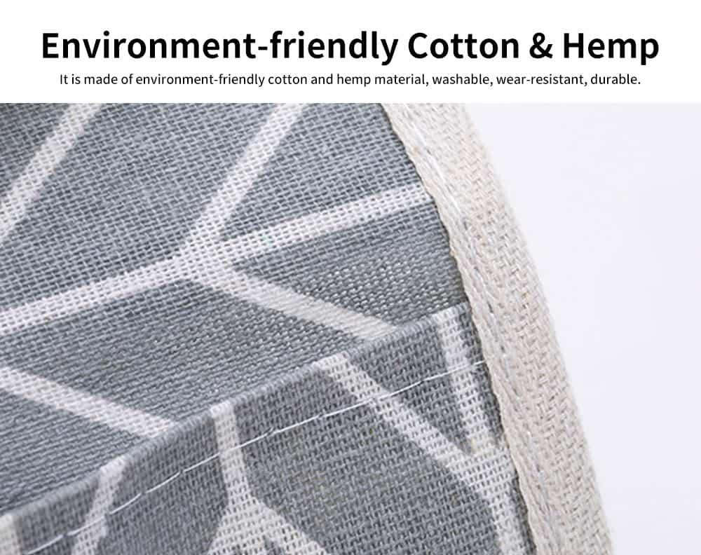 Cotton Linen Paper Towel Box, Garden Wind Multifunctional Paper Towel Storage Container, with Waterproof Layer Design 1