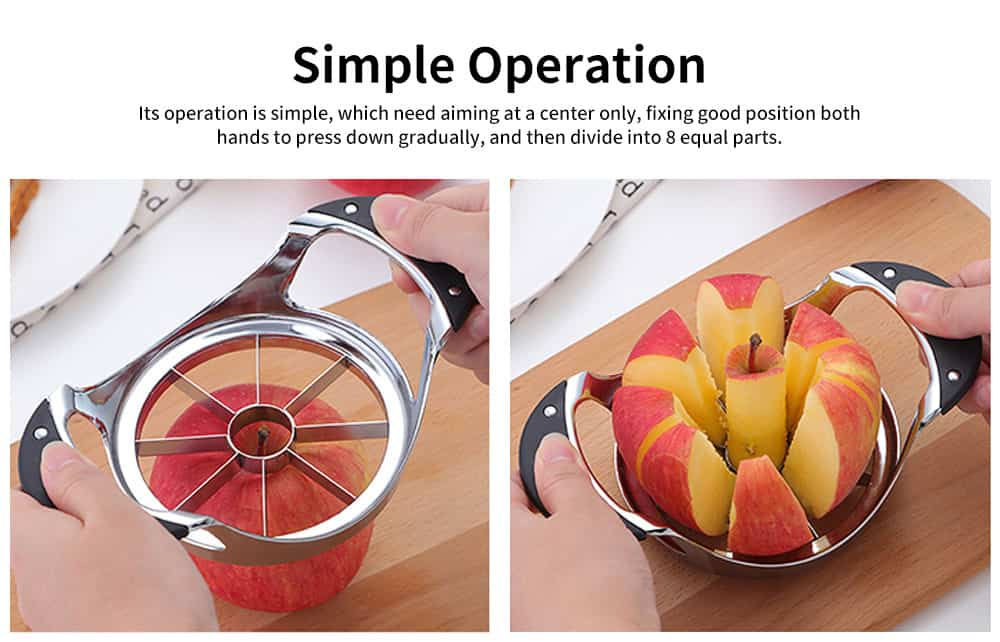 High-quality Thickened Zinc Alloy Cut Fruit Artifact, Apple Slicer, with User-friendly Handle Design 1