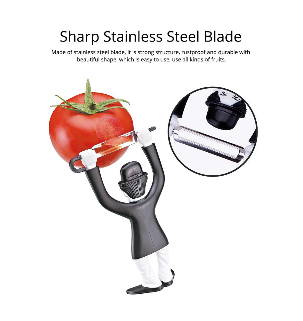 Multifunctional Peeler Knife with Chaplin Design Portable Vegetable Potato Fruit Peeler, Kitchen Cut Tools 5
