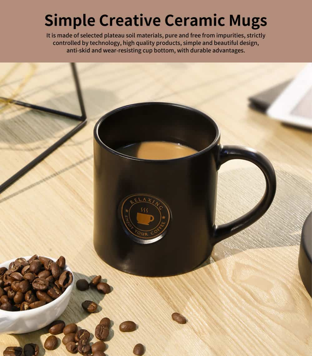 Creative Ceramic Mugs, Personalized Student Couple Water Mugs, Simple Office Coffee Cup 0