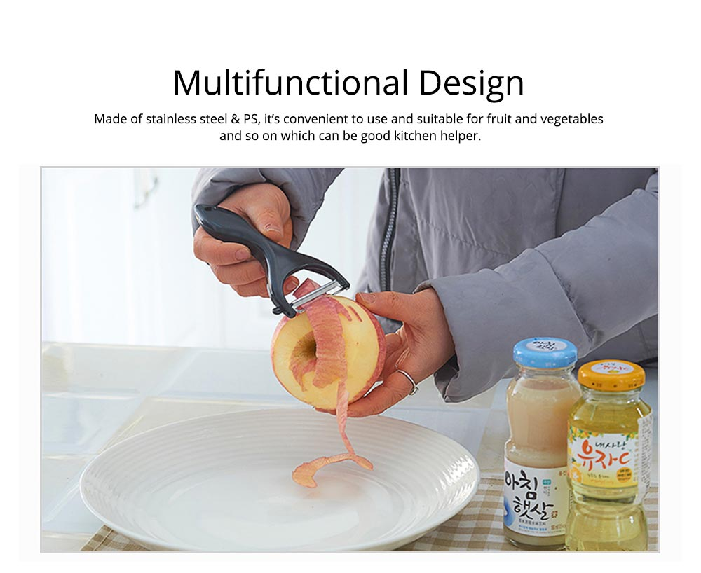 Multifunctional Rotating Peeler Knife with Dig Bud Device , Portable Vegetable Potato Fruit Peeler, Kitchen Cut Tools 1