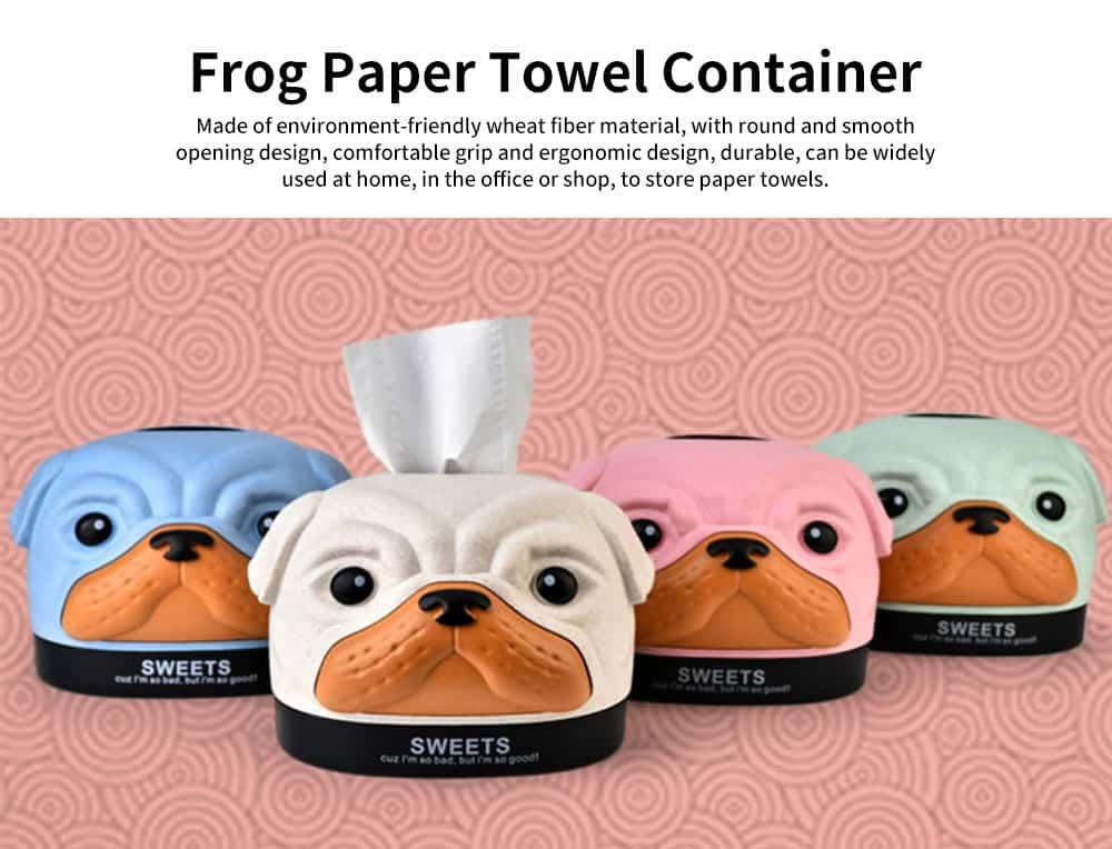 Environment-friendly Wheat Fiber Dog Tissue Box, Multifunctional Desktop Paper Roll Paper Storage Box 0