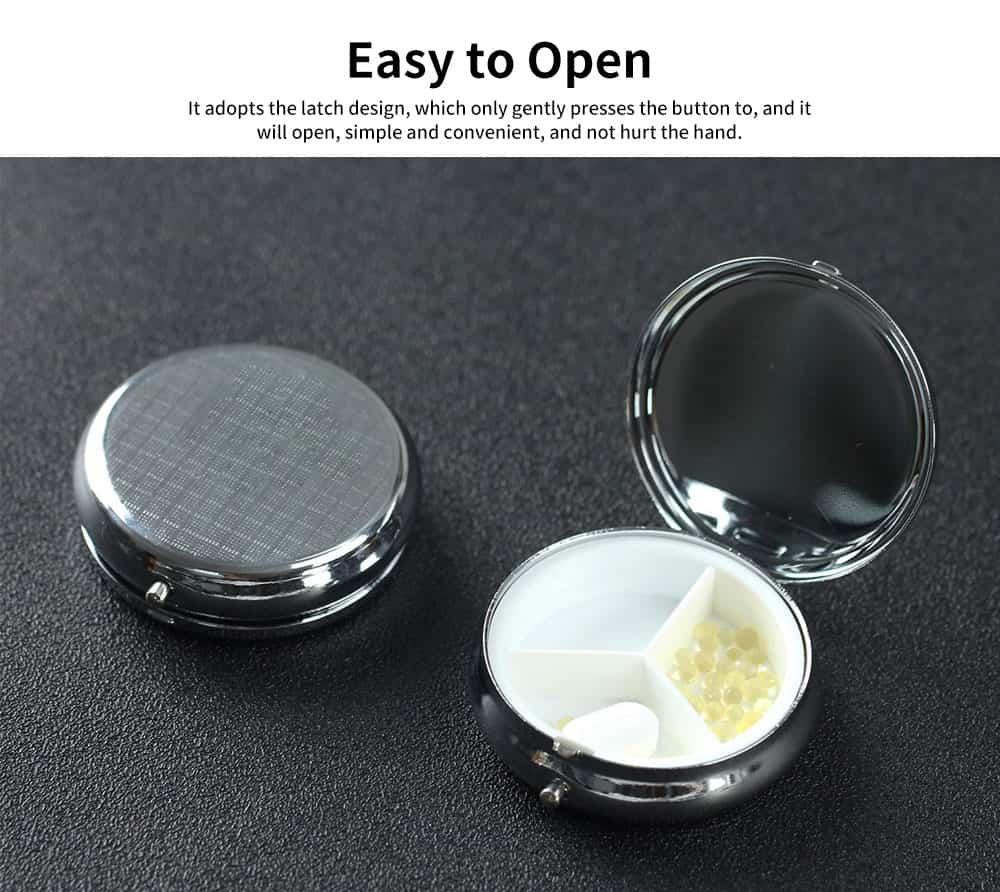 Portable Mini Portable Pill Box, Colorful Unique Pattern Storage Case for Health Care Product 2