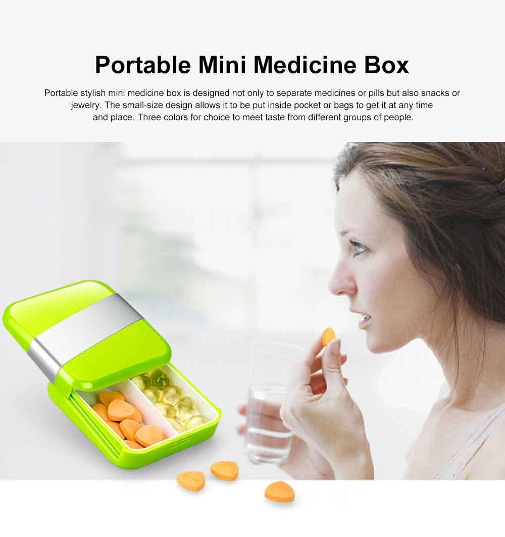 Portable Stylish Mini Medicine Box for Tablets or Pills Separation Put Sealing Anti Humidity Pill Case Shading Medicine Case 0