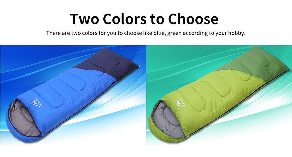 Adult Envelope Sleeping Bag for Hiking, Camping, 4 Seasons, Lightweight Warm Hollow Cotton Sleeping Bag 1