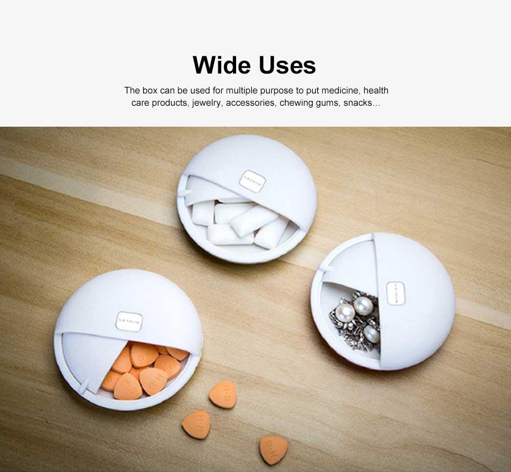 Portable Mini Medicine Box for Medicines or Pills Storage Stylish Small Size Storage Case Creative Storage Box 6