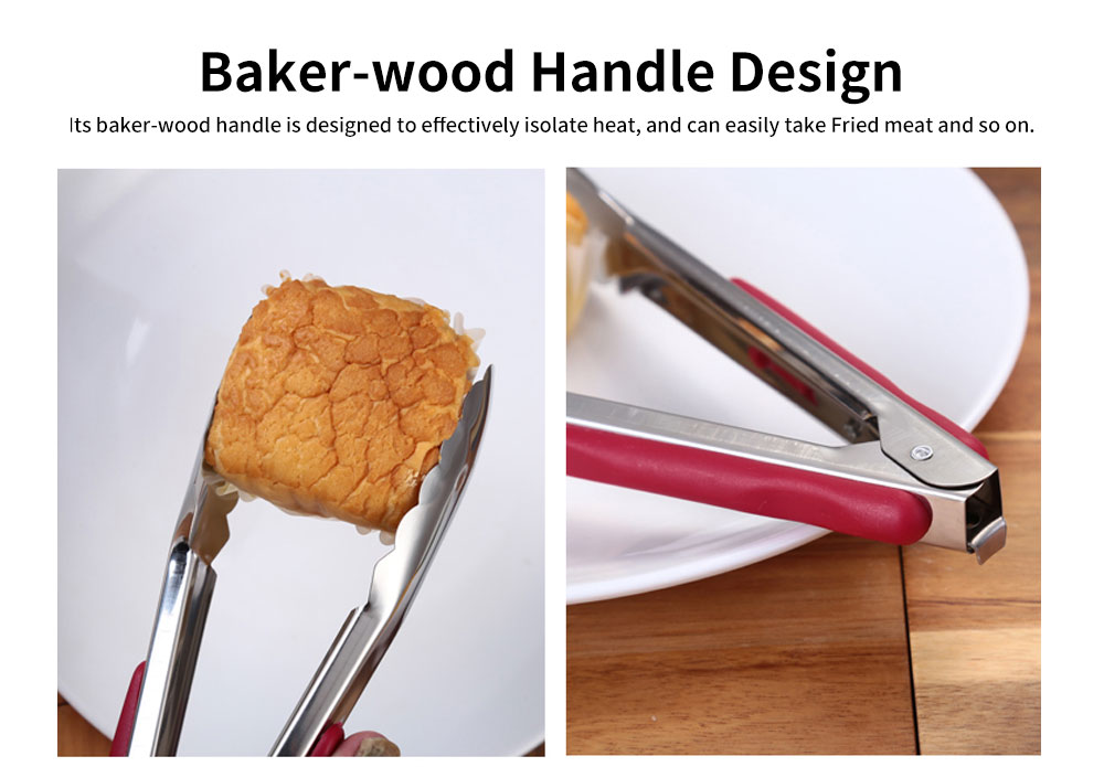 Stainless Steel with Plastic Handle Bread Clip, Multifunctional Food Clip for Clipping Pastry, Bread, Cooked Food 5