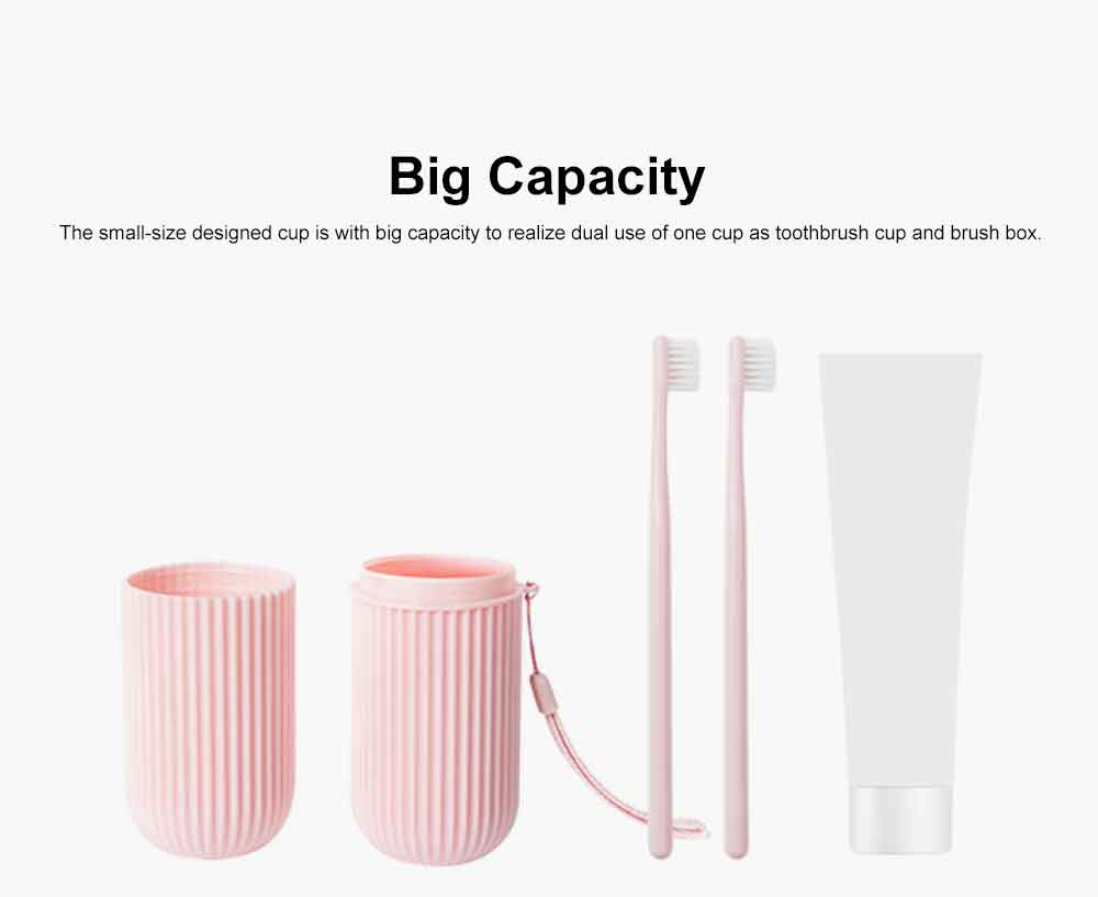 Portable Toothbrush Box Set Made from Wheat Straw for Travel Purpose Resining Cups Teeth Brush Mug Set Couple Cups Simple Style Teeth Tools Storage Box 3