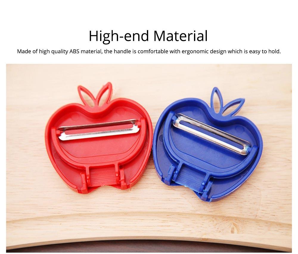 Multifunctional Foldable Peeler Knife with Apple Shape, Portable Vegetable Potato Fruit Peeler, Kitchen Cut Tools 4