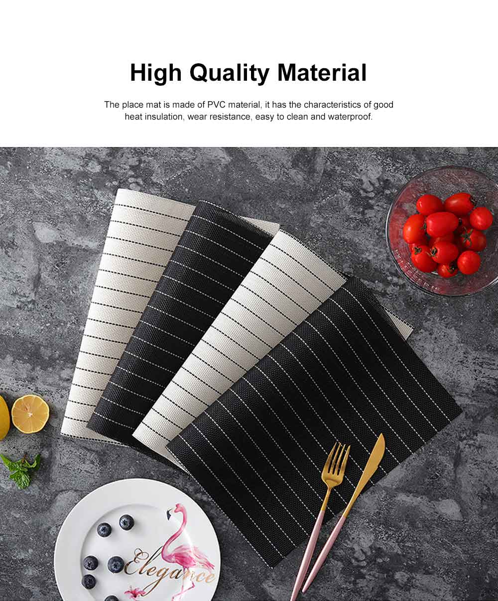 Place Mat PVC Waterproof Thicken Heat Resistant Modern Simple Table Mat European Style Heat Insulation Mat for Household 1