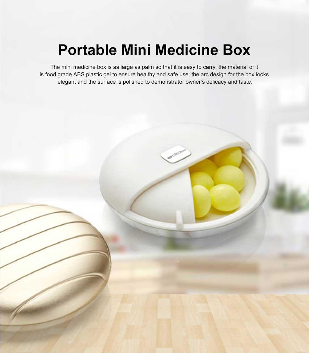 Portable Mini Medicine Box for Medicines or Pills Storage Stylish Small Size Storage Case Creative Storage Box 0