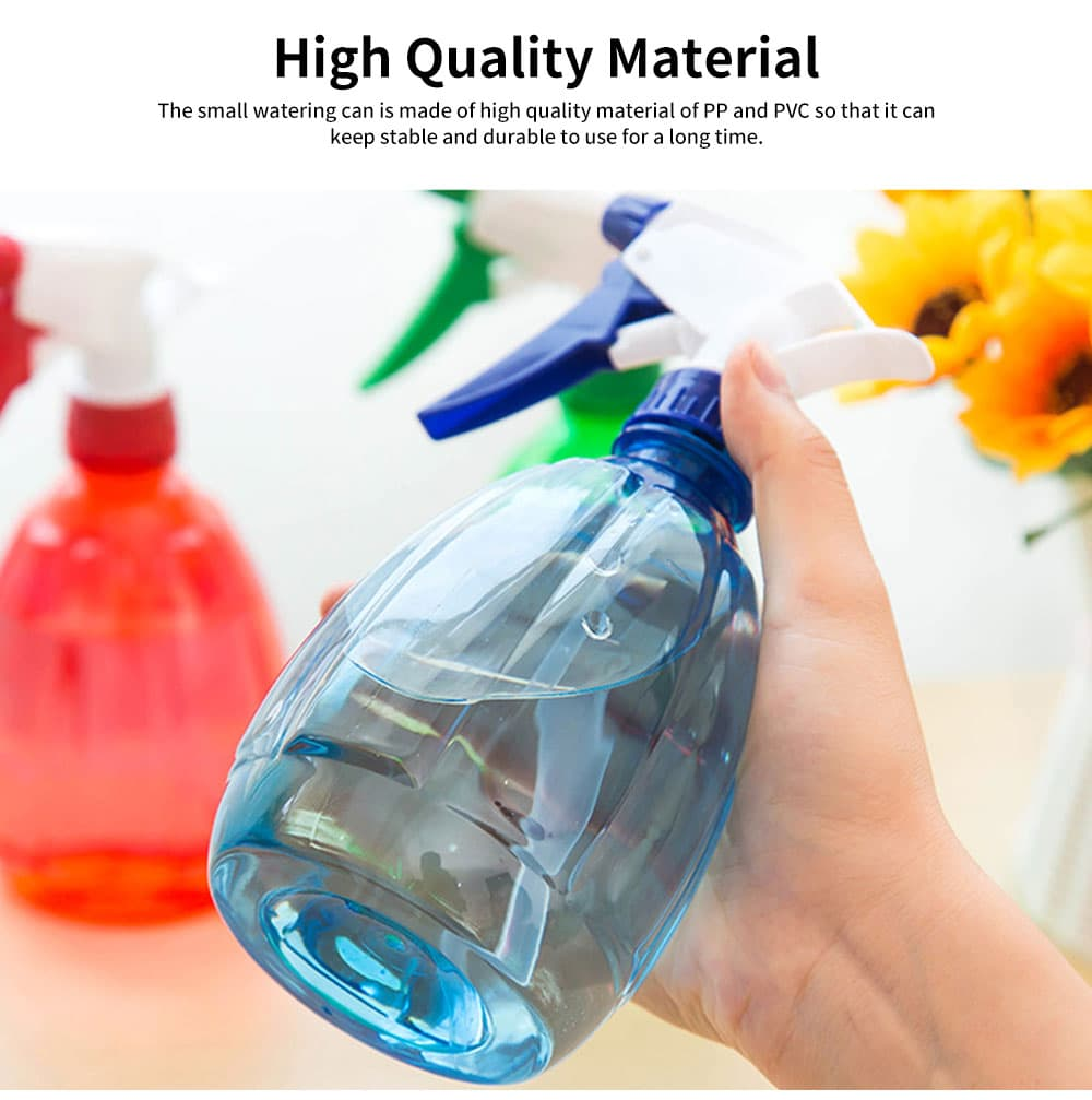 Hand Press Small Plastic Spray Bottle for Home, School, Office Candy Color Gardening Tool Watering Can 4