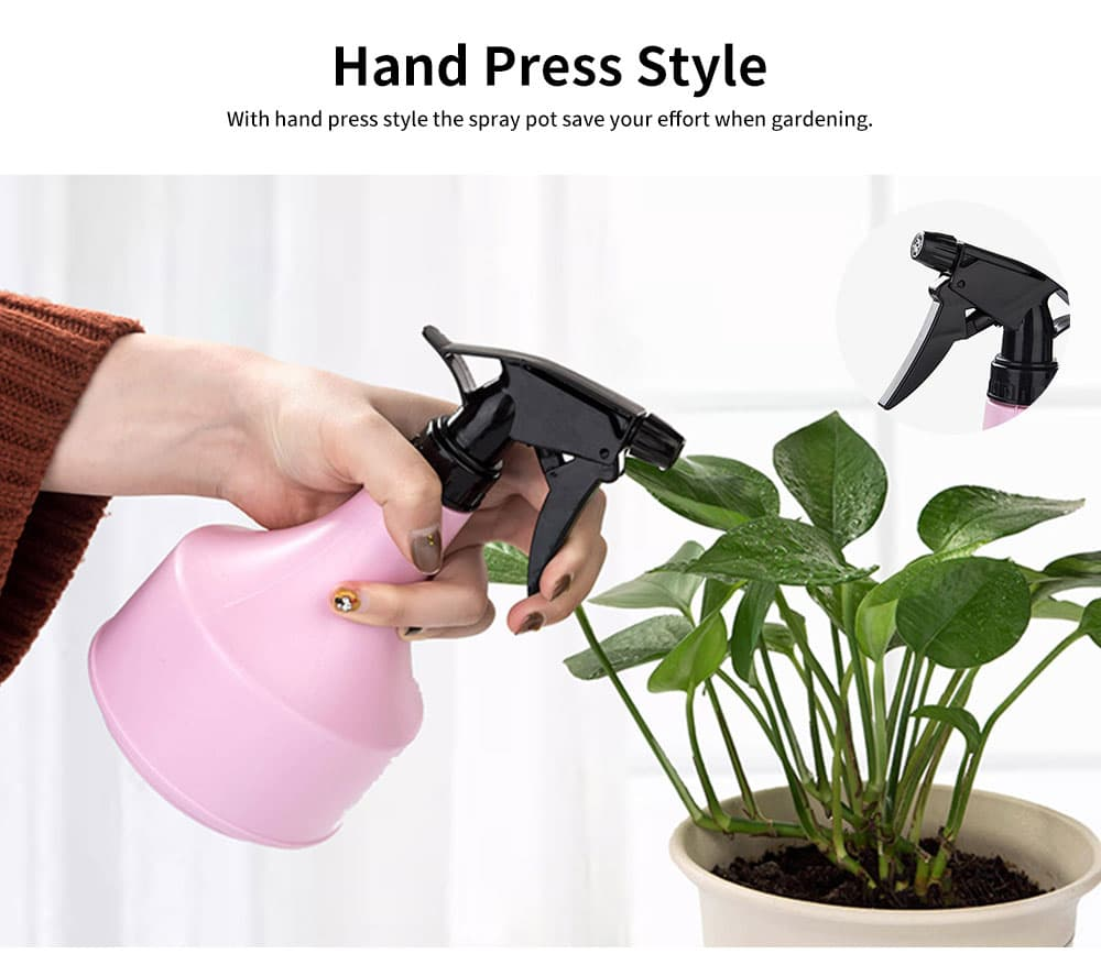 Hand Press Plastic Watering Can for Home and Garden, Gardening Tools Essential Spray Bottle 2