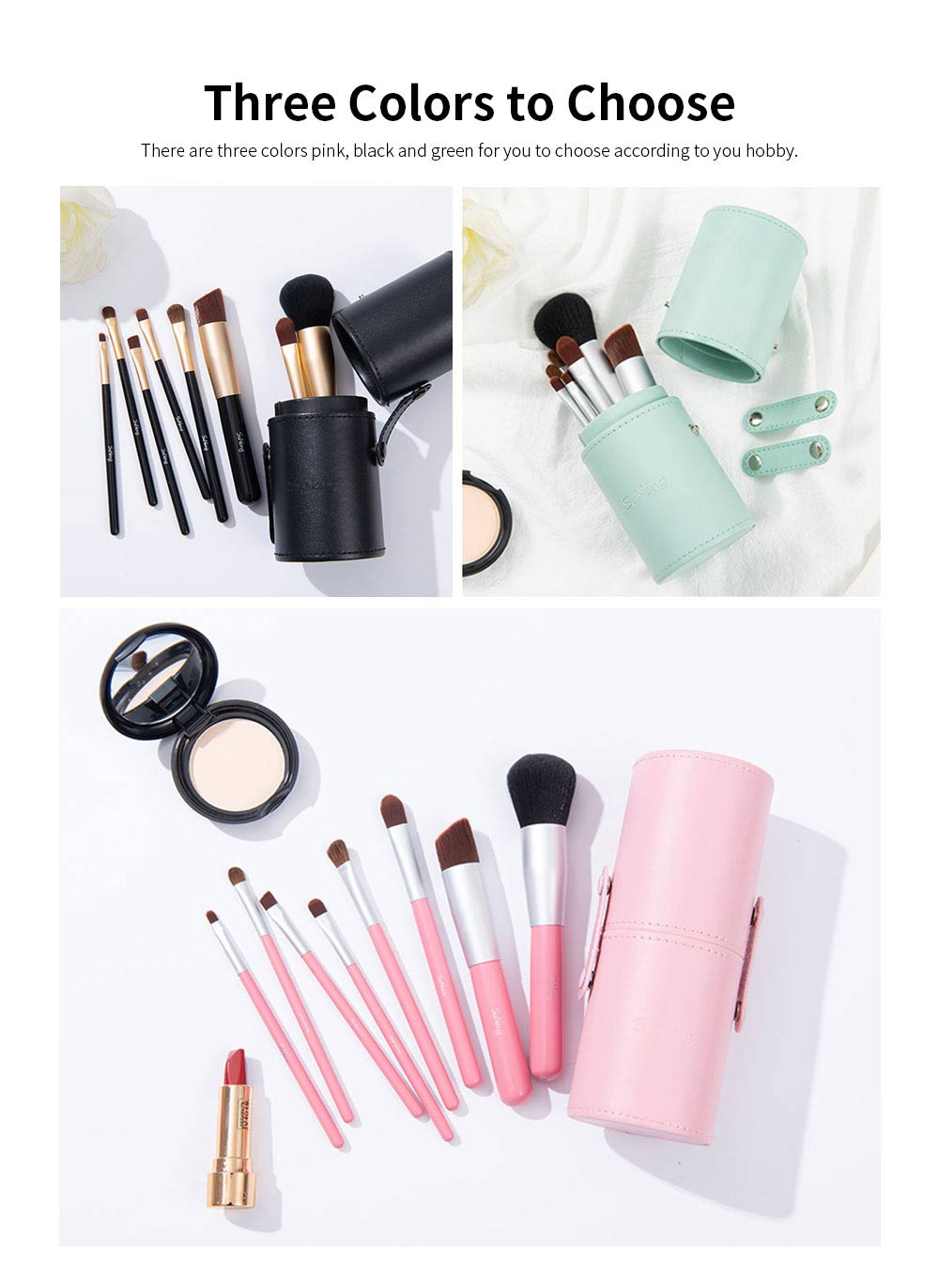 8 pcs Makeup Brushes Set with Holder, Soft Cosmetic Brush Tool for Makeup with Storage Case 3
