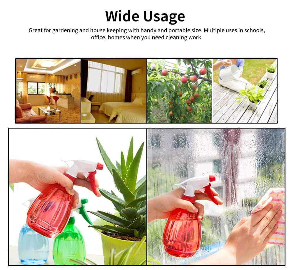 Hand Press Small Plastic Spray Bottle for Home, School, Office Candy Color Gardening Tool Watering Can 3
