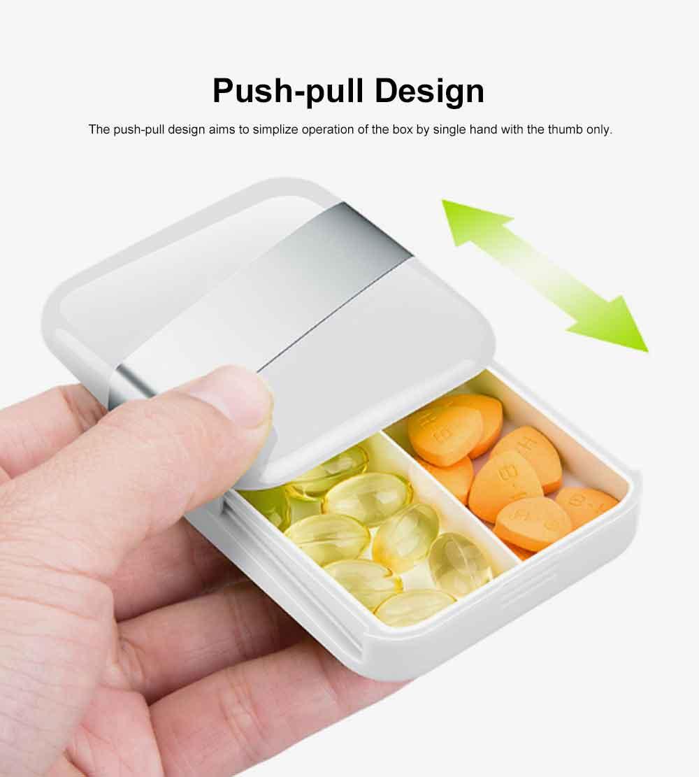 Portable Stylish Mini Medicine Box for Tablets or Pills Separation Put Sealing Anti Humidity Pill Case Shading Medicine Case 2