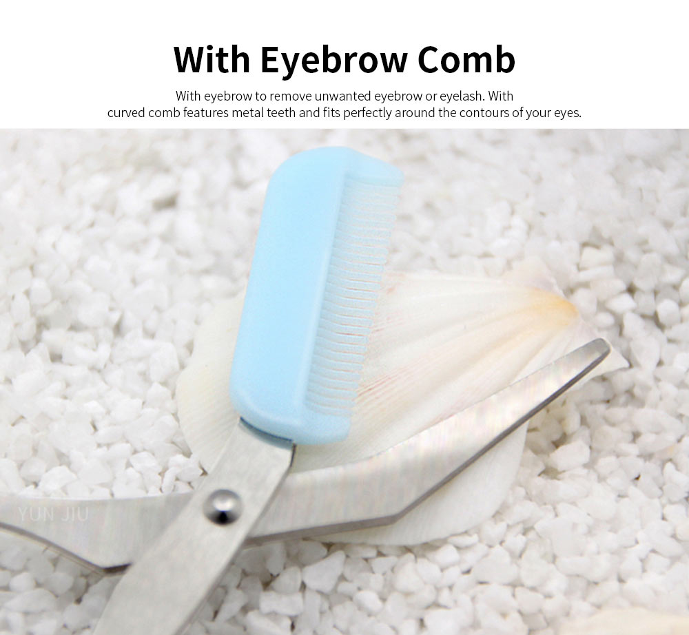 Ladies Eyebrow Shaping Knife for Girls, Makeup Tools Eyelash Hair Scissors Cutter Remover 3