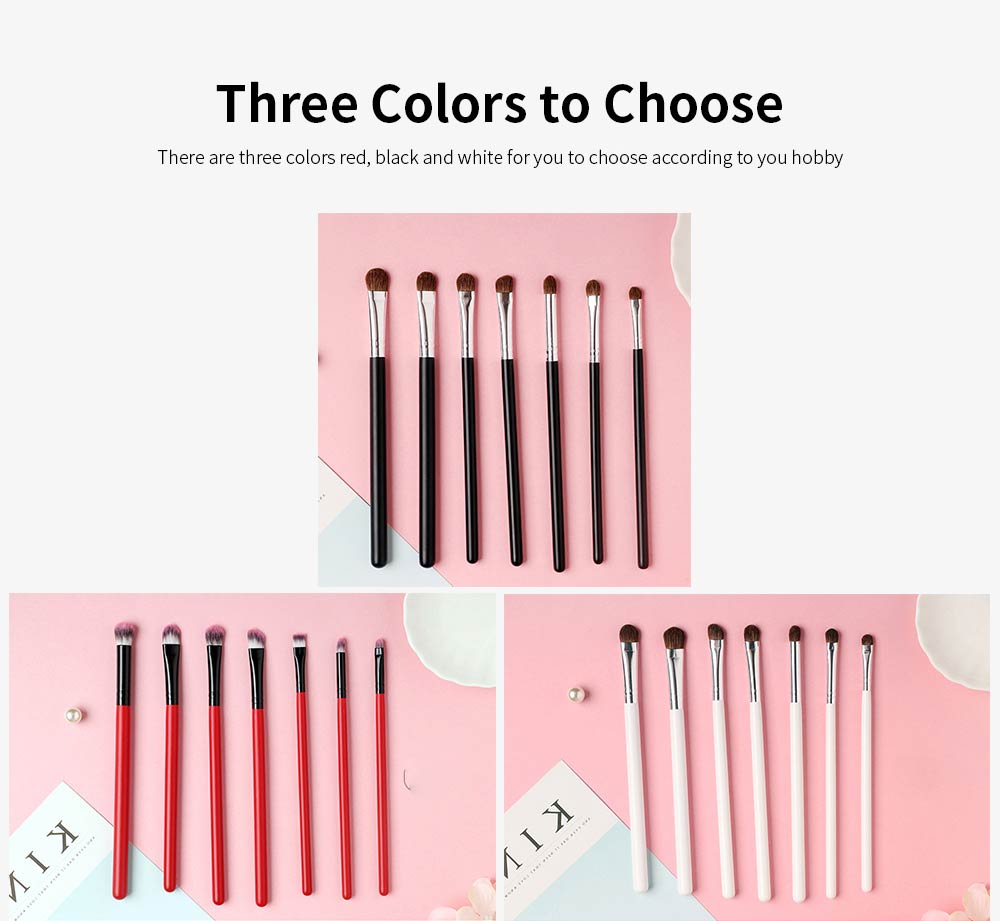 7 pcs Makeup Brushes Set Soft Cosmetic Brush Tool High Quality Animal Hair 3