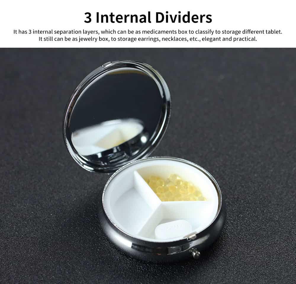Portable Mini Portable Pill Box, Colorful Unique Pattern Storage Case for Health Care Product 3