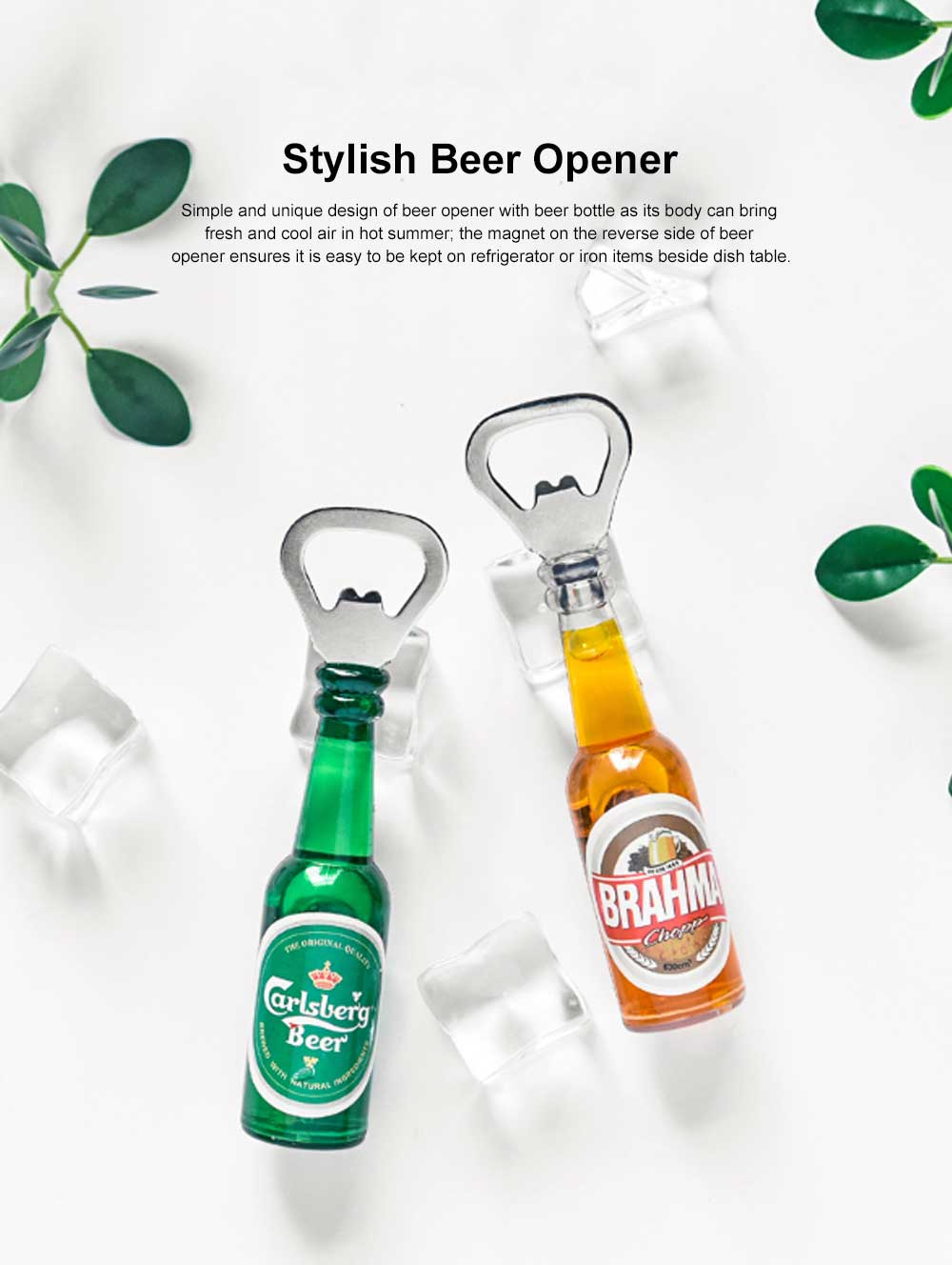 Magnetic Beer Opener with Multiple Functions Stylish Beer Opener Household Accessories American Style Beer Opener 0