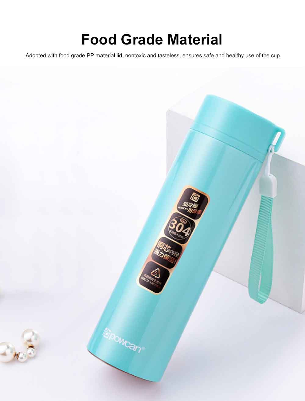 Portable Vacuum Cup for Men, Women and Children 304 Stainless Steel Cup Lovely Children's Portable Cup Vacuum Car-born Bottles 1