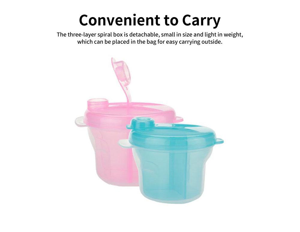 Infant Milk Powder Box, Children's Revolving Milk Powder Box, Three-Layer Snack Storage Box 5