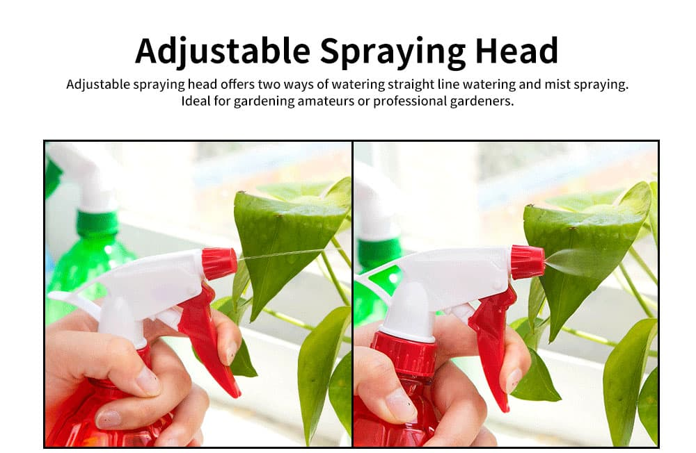 Hand Press Small Plastic Spray Bottle for Home, School, Office Candy Color Gardening Tool Watering Can 5